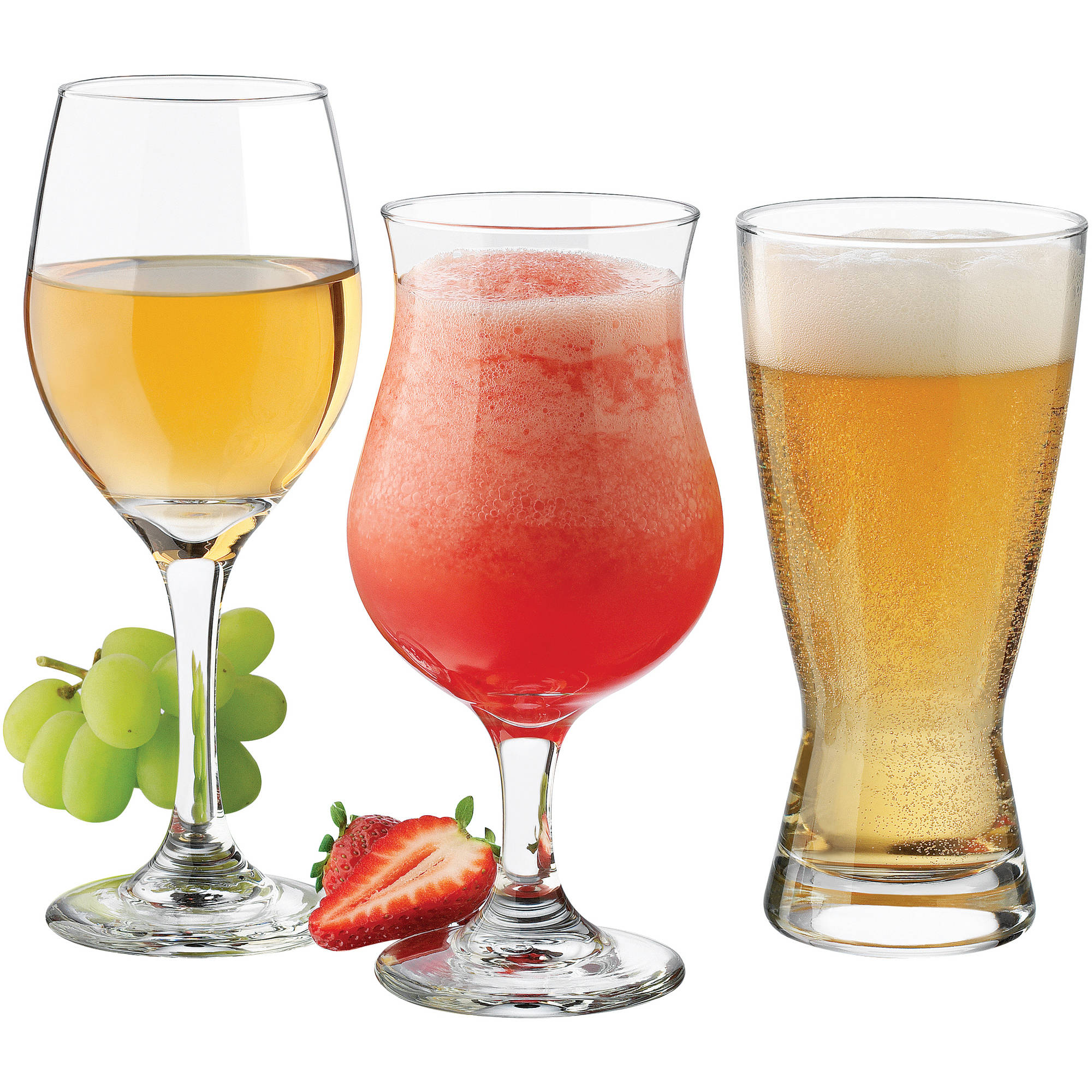 Libbey Celebrations Barware and Glassware, Set of 12