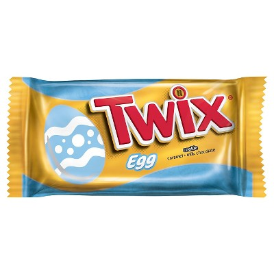 TWIX Easter Caramel Singles Size Chocolate Cookie Bar Candy Eggs 1.06-Ounce Bar (Pack of 4)