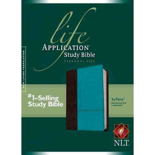 Life Application Study Bible: New Living Translation, Dark Brown/Teal, Tutone Leatherlike, Personal Size