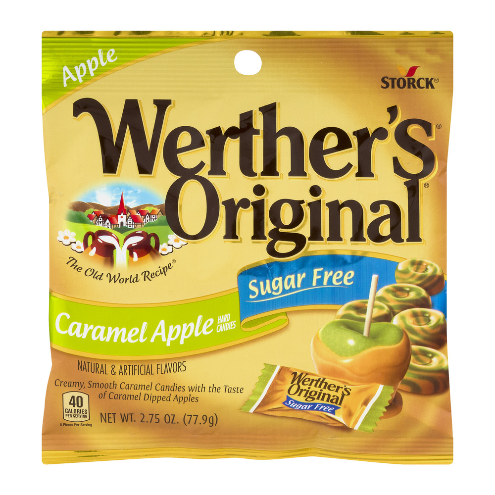 Werther's Original Sugar Free Hard Candies Caramel Apple, 2.75 OZ