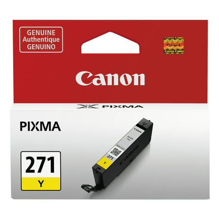 Canon 0393C001AA CLI-271 Yellow Ink Tank Genuine Yellow Ink Tank