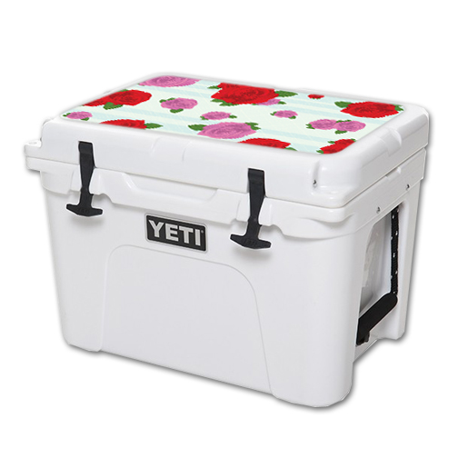 MightySkins Protective Vinyl Skin Decal for YETI Tundra 35 qt Cooler Lid wrap cover sticker skins Roses