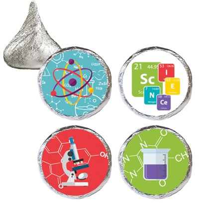 Kids Science Party Favor Stickers, 324ct, Science Lab Birthday Party Favors Science Experiment Party Supplies - 324 Count Stickers