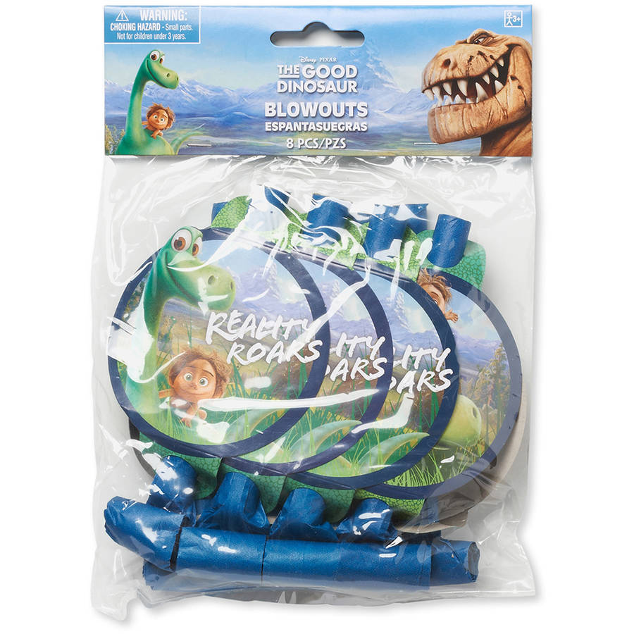The Good Dinosaur Party Blowers, Pack of 8, Party Supplies
