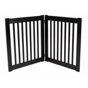 Dynamic Accents 42220 - 27 Inch 2 Panel Free Standing EZ Gate - Mahogany