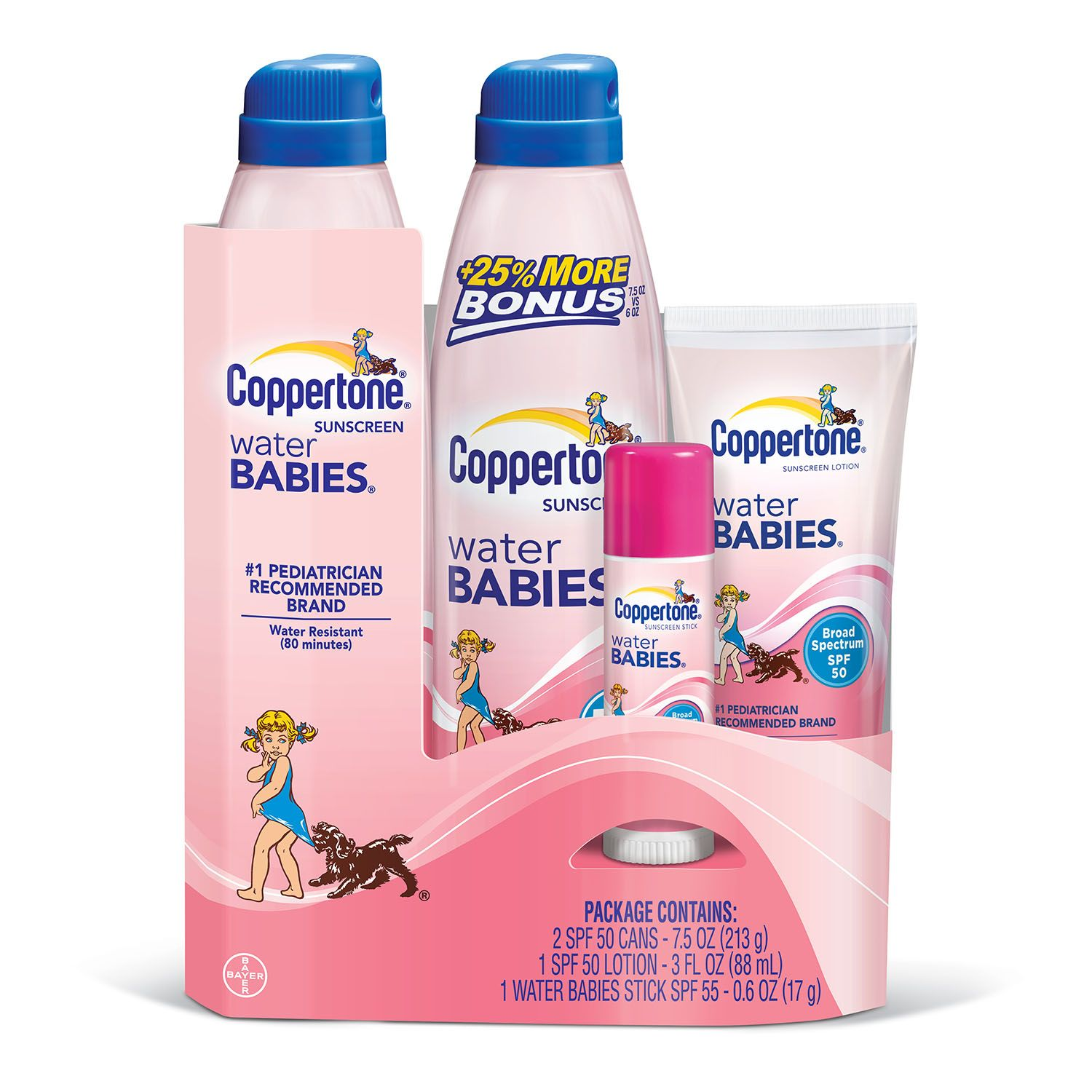 Coppertone Water Babies Sunscreen Variety Pack