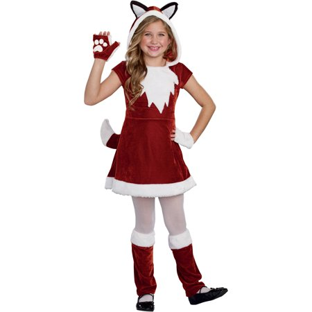 Frilly Fox Girls' Child Halloween Costume, Medium (Fox Costume Girl)