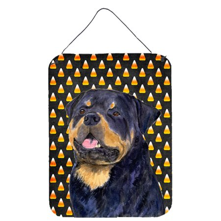 Rottweiler Candy Corn Halloween Portrait Wall or Door Hanging Prints (Rottweiler Halloween)