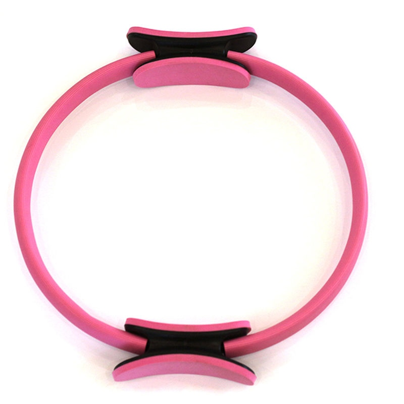 15 inch Pilates Ring Help Tone and Strengthen Your Entire core and Body Pink