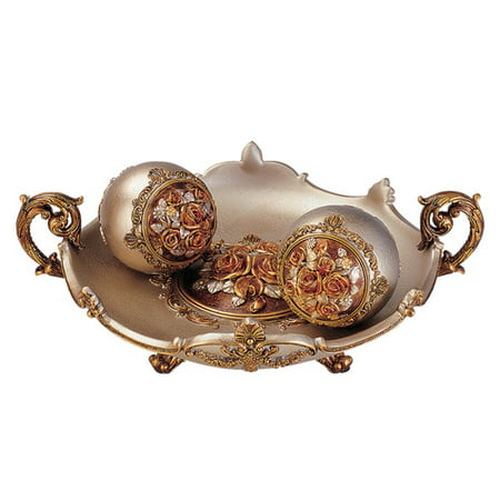 OK Lighting Rosie Bowl With - Bronze 3 Light Bowl