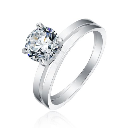 Envy Solitaire 1.25Ct Setting Engagement Bridal Wedding Ring Band Set - Ginger Lyne Collection