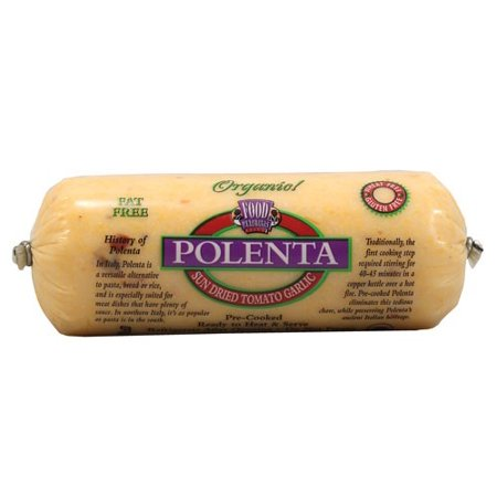 - Food Merchants Polenta, Sun Dried Tomato Garlic, 18 Oz