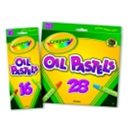 Crayola Hexagonal Non-Toxic Jumbo Oil Pastel Stick Set - 0.43 x 3 in. - Set 28