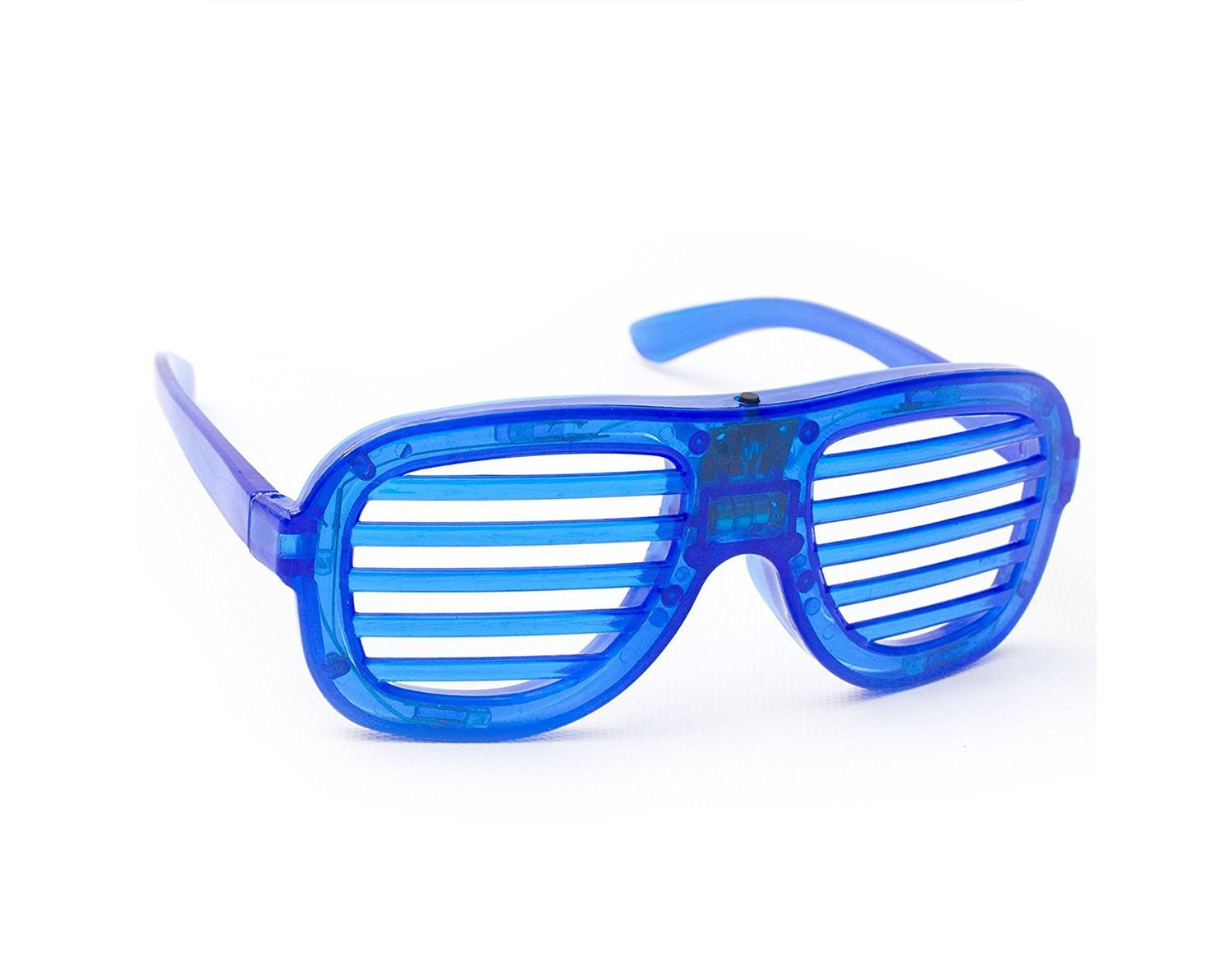 12 STAR Flashing LED Light up Slotted Sunglasses Shades Party Favors Bag Fillers