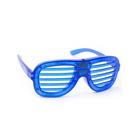R375 LED Light Up Slotted Shades - Blue, These Kanye West style shutter slotted shades are one of our coolest and most popular items! These eye.., By Fun - Light Up Shutter Shades
