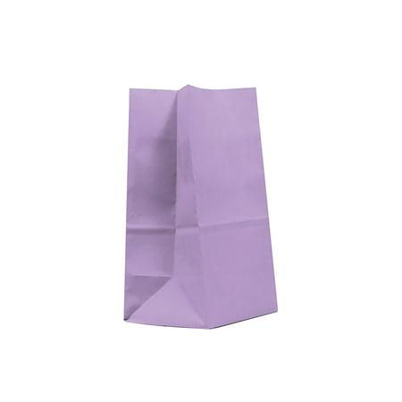 40CT Paper Bag, Favor Sack,Biodegradable, Food Safe Ink & Paper(Thicker), Favor Sack, Kraft Paper Sack (Medium, Lavender)