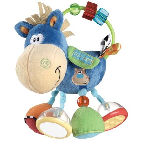 Toy Box Clip Clop Horse Activity Rattle Baby Stuffed Animal Playgro 0101145107 ()