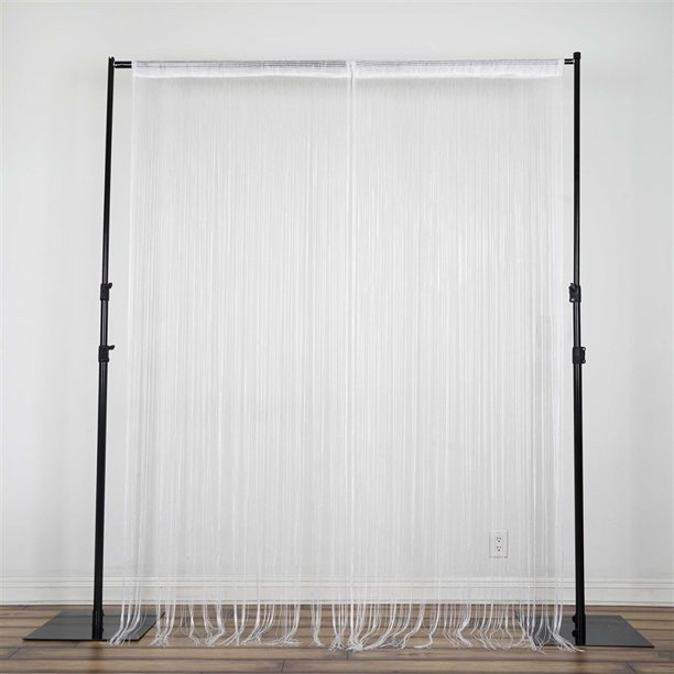 8 Ft Long White Silk String Tels