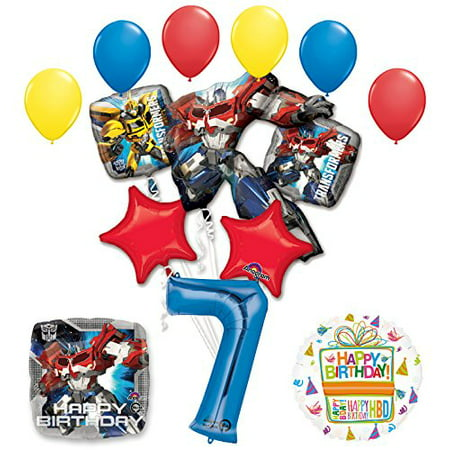 The Ultimate Transformers 7th Birthday Party Supplies and Balloon Decorations (Transformer Pinata)