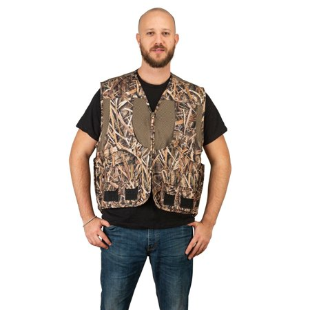 Mossy Oak Camo Mens Deluxe Front Loader Hunting Shooting Vest -Turkey- Bird (Shadow Grass,2XL) thumbnail