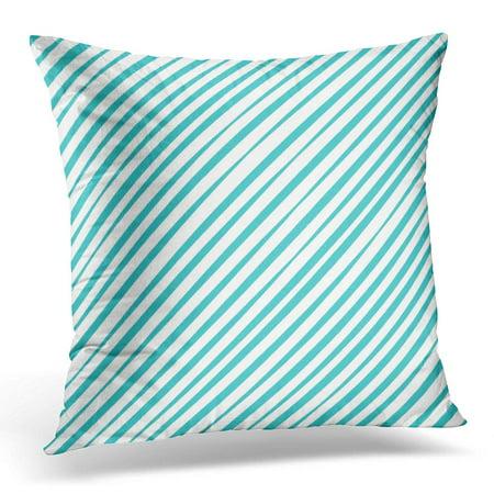 ECCOT Black Abstract Geometric Aqua Pattern Diagonal Lines Straight Stripes Gray Artistic Pillowcase Pillow Cover Cushion Case 18x18 inch ()