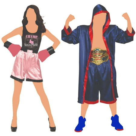 Couple Matching Costumes (Couples Matching Boxing Champions Costumes, One)