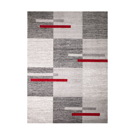Rio Acrylic Rug (Rio Collection - Gray Geometric Boxed Retro Design Premium Area Rug by Rug and Decor 2x3 Scatter Rug)