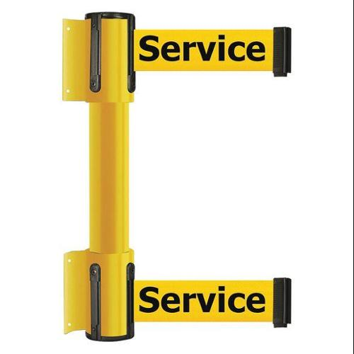 TENSATOR 896T2-35-STD-YEX-C Belt Barrier, 7-1/2ft, Out Of Service, Yllw