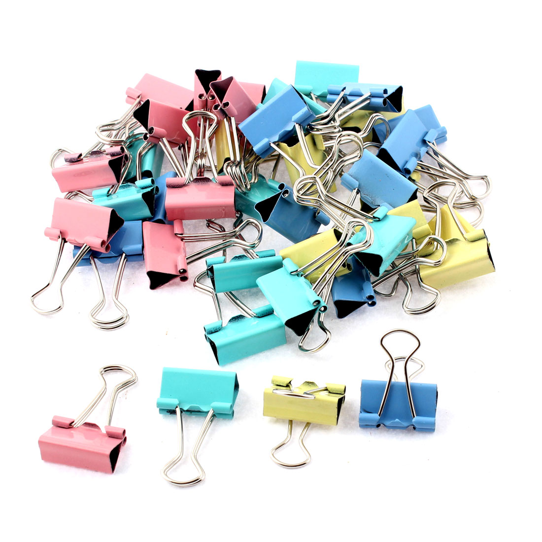 Home Office     Document Paper File Binder Clips Clamp Holder 40pcs - image 2 of 2