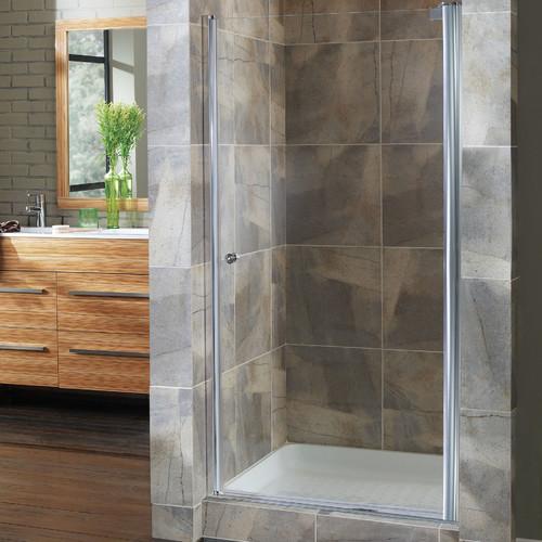 Hazelwood Home Brock 34.5'' x 72'' Pivot Frameless Shower Door