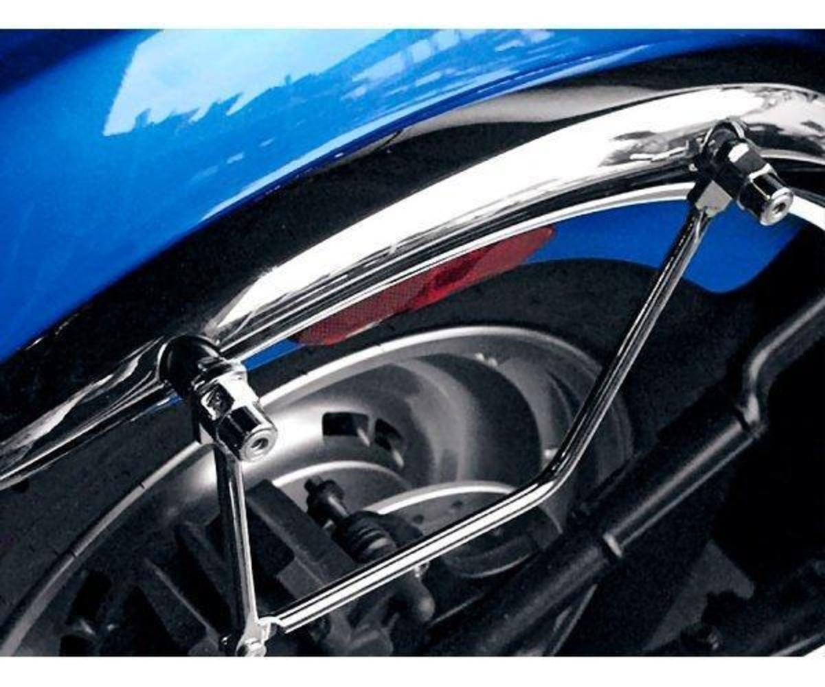 Black Saddlebag Support Brackets Motorcycle Kawasaki Suzuki Meanstreak M95