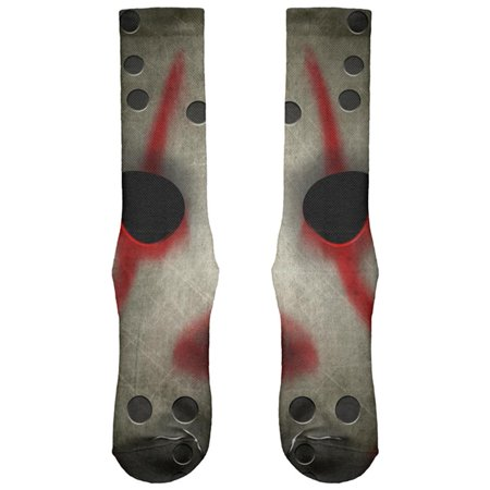 Halloween Horror Movie Hockey Mask All Over Soft Socks - Horror Movie Masks Halloween