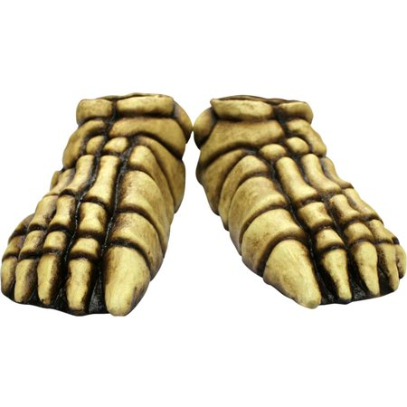 Skeleton Bone Feet Latex One Size Covers Creepy Costume Accessory Halloween (Creepy Halloween Food For Adults)
