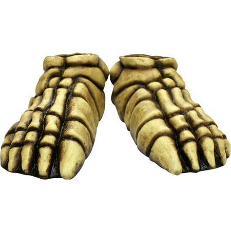 Skeleton Bone Feet Latex One Size Covers Creepy Costume Accessory Halloween](Creepy Halloween Makeup Ideas For Women)