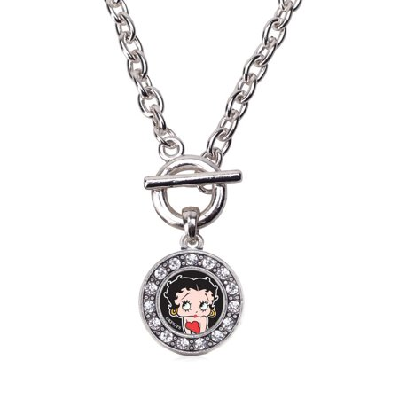 Betty Boop Circle Charm Toggle Necklace ()