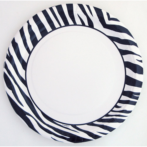 "9"" Zebra Chic Party Plates, 10ct"