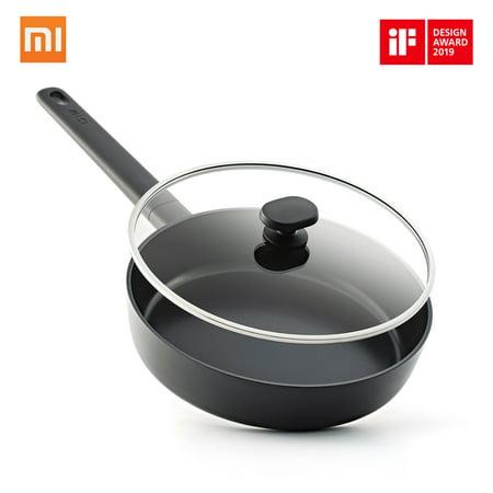 Xiaomi Mi Home Shuangli People Flat-bottom Pot Non-Stick Pot Fry Pan Flat Griddle Fuel Gas Cooker Universal Moderate Scale Convenient Practical For 2-3 People 24 Cm Black 24 Cm Casserole Pot