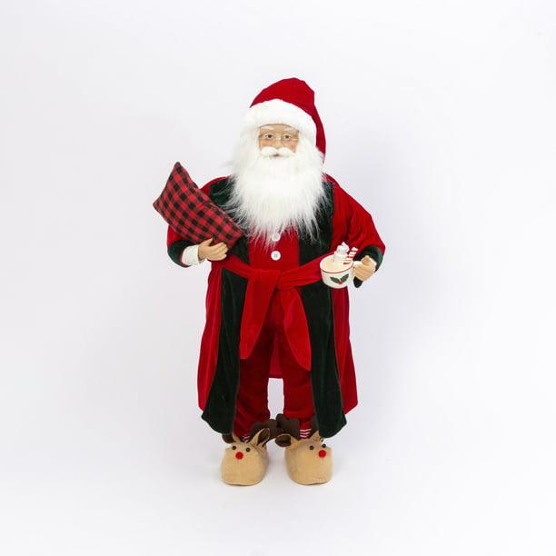 Gerson 3ft Tall Holiday Santa Figurine Walmart Com Walmart Com