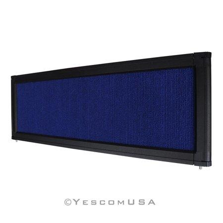Blue Trade Show Display System Optional Header Panel Board Aluminum Frame Logo Display Header Panel