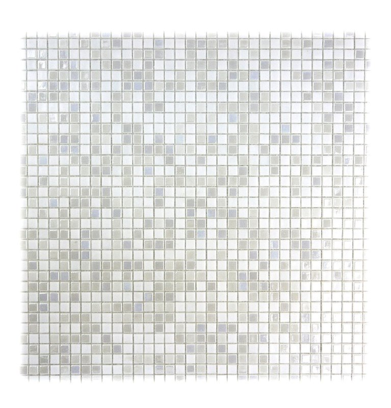 "Abolos- Galaxy Straight 0.31"" x 0.31"" Glass Mosaic Tile in White (10sqft / 10pc Box)"