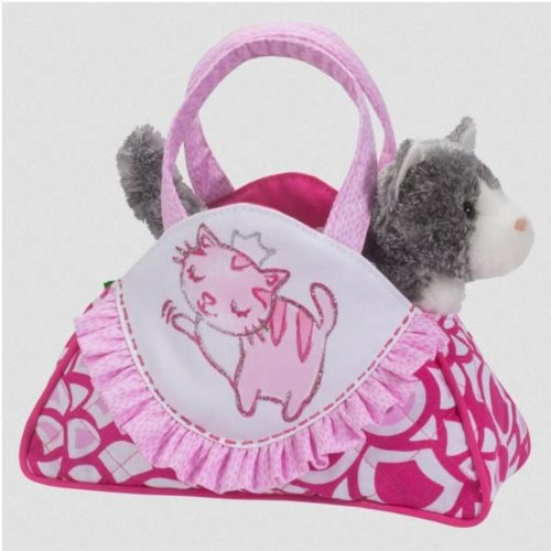 Princess Cat Sassy Pet Sak Tote with Removeable Gray Cat Plush Toy, By Douglas Cuddle Toys Ship from US by