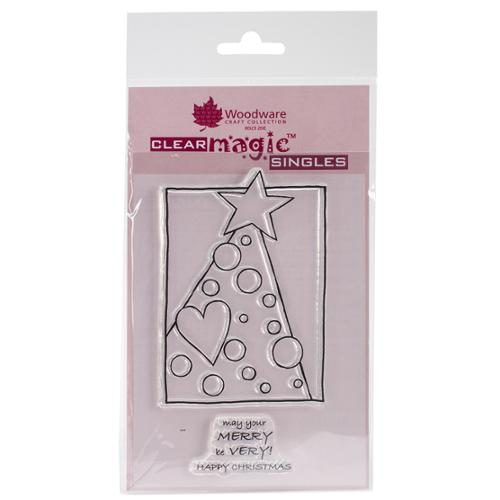 "Woodware Clear Stamps 5.5""X3.5"" Sheet-Treemendous Dots"