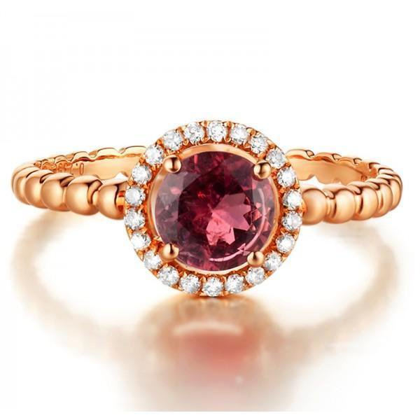 Unique 1.25 Carat Round Natural Ruby And