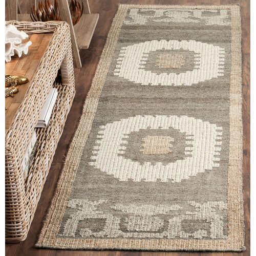World Menagerie Gretta Hand-Tufted Wool Ivory/Gray Area Rug