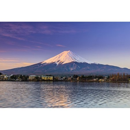 Mount Fuji at Sunrise as Seen from Lake Kawaguchi, Yamanashi Prefecture, Japan Print Wall Art By Stefano Politi Markovina