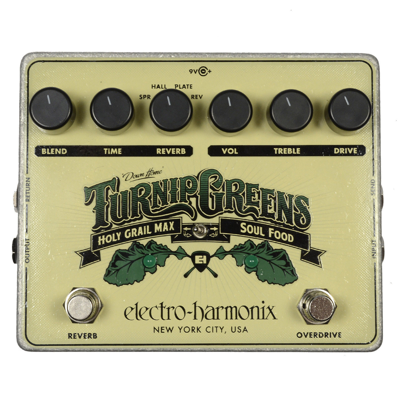 Electro-Harmonix Turnip Greens Multi-Effects Pedal w/Soul Food & Holy Grail Max