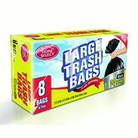 Home Select Trash Bags, 30 Gallon, 8 Ct