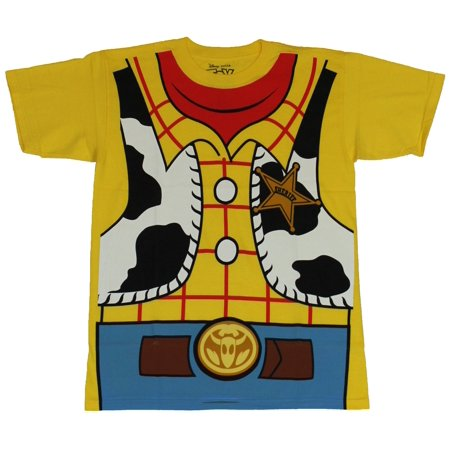 Toy Story Mens T-Shirt - Woody Costume Front Cute Image (Small, Small) - Woody Toy Story Costume Men
