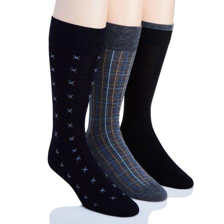 Men's Perry Ellis 0925042 Portfolio Dress Socks - 3 Pack (Dark Assort O/S)