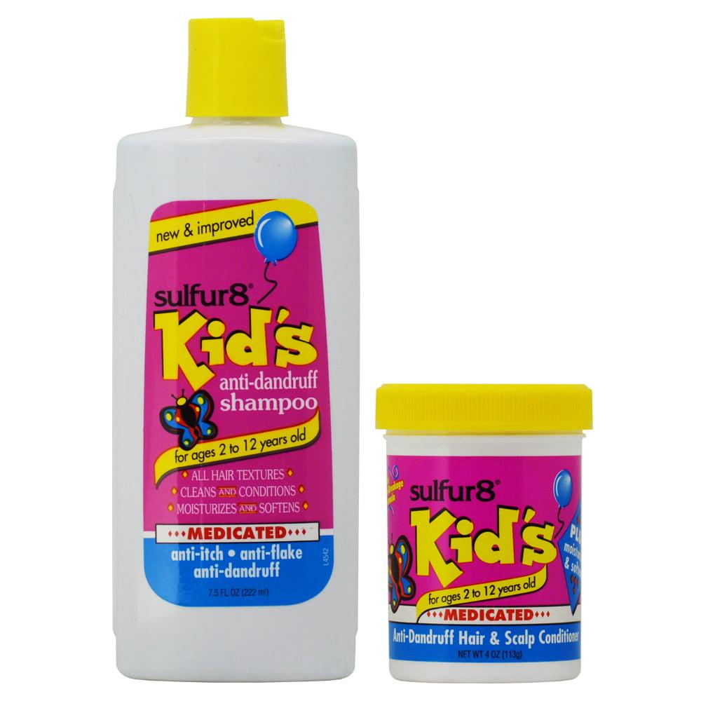 "Sulfur8 Kid's Medicated Anti-dandruff Shampoo 7.5oz + Conditioner 4oz ""Set"""